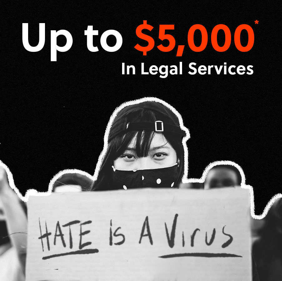 Win $5000 in legal services to combat hate crimes